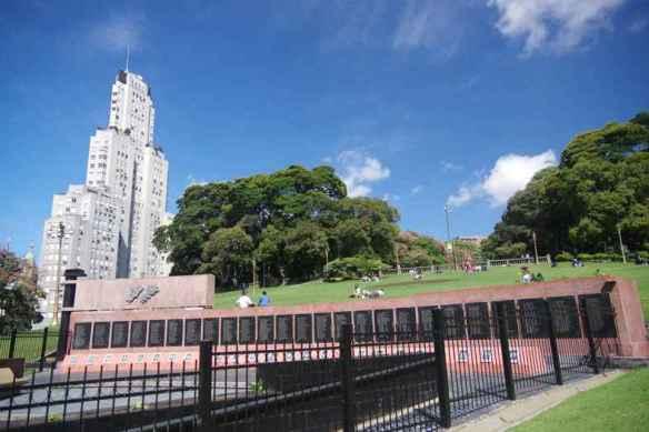 Monument aux morts lors de la guerre des Malvines